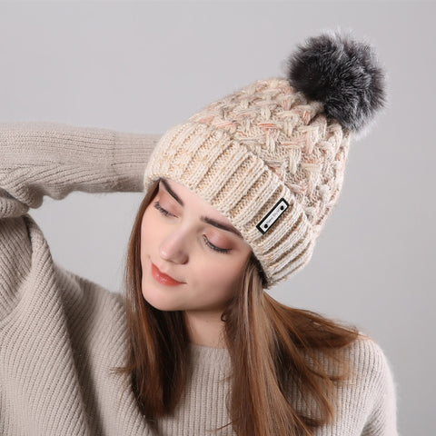 Fashion Winter Knit Wool Floss Hat