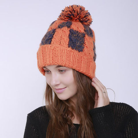 Fashion Winter Knit Wool Handmade Hat
