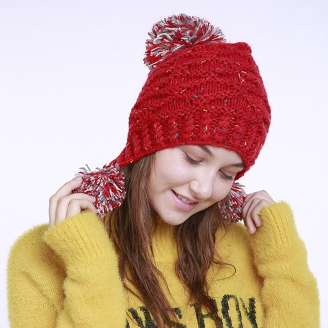 Fashion Winter Mix Knit Wool Hat