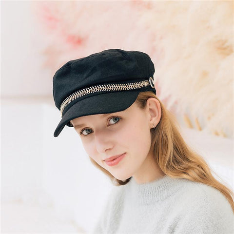 Elegant Fashion Casual Plain Peaked Beret Hat