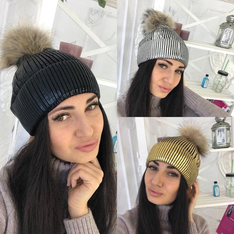 Casual Chic Bright Color Thermal Knitting Hat