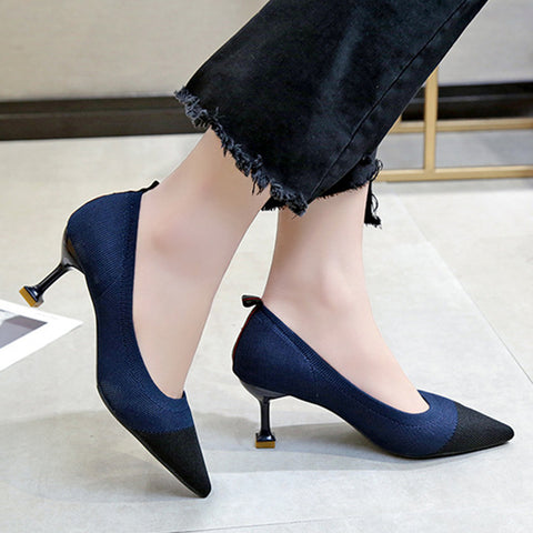 Stiletto  High Heeled  Point Toe  Date Office Stiletto Heels