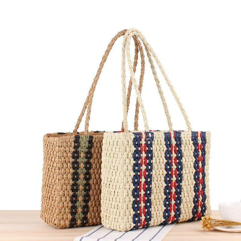 Retro Casual Straw Woven Single Handbag