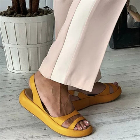 Women's Fashion Solid Color   Platform Sandals