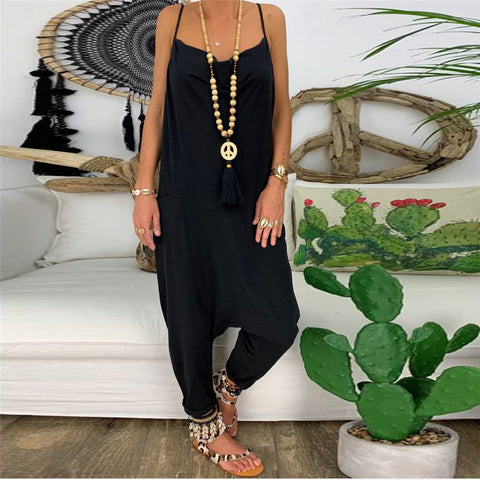 Casual Loose Slim Strap Jumpsuits