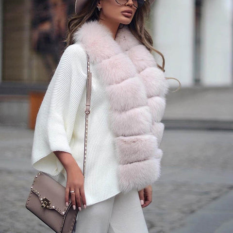 Women's solid color fur collar coat