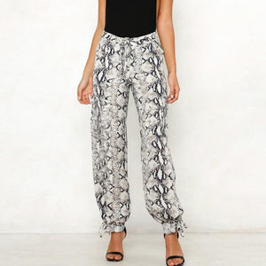 Fashion Loose Animal Printed Colour Pants