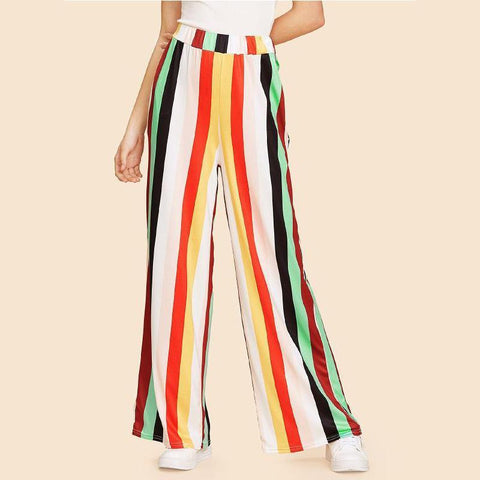Colorful Striped Printing Pants