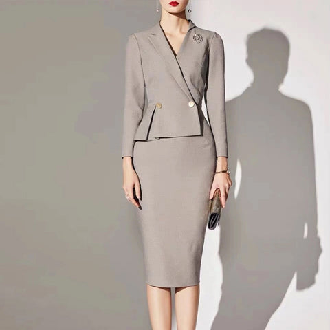 Fashion Commuter Professional Slim Light Brown Suit