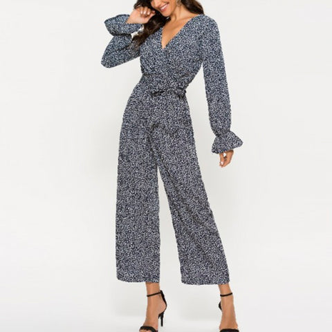 Fashion Casual Printed Jumpsuit