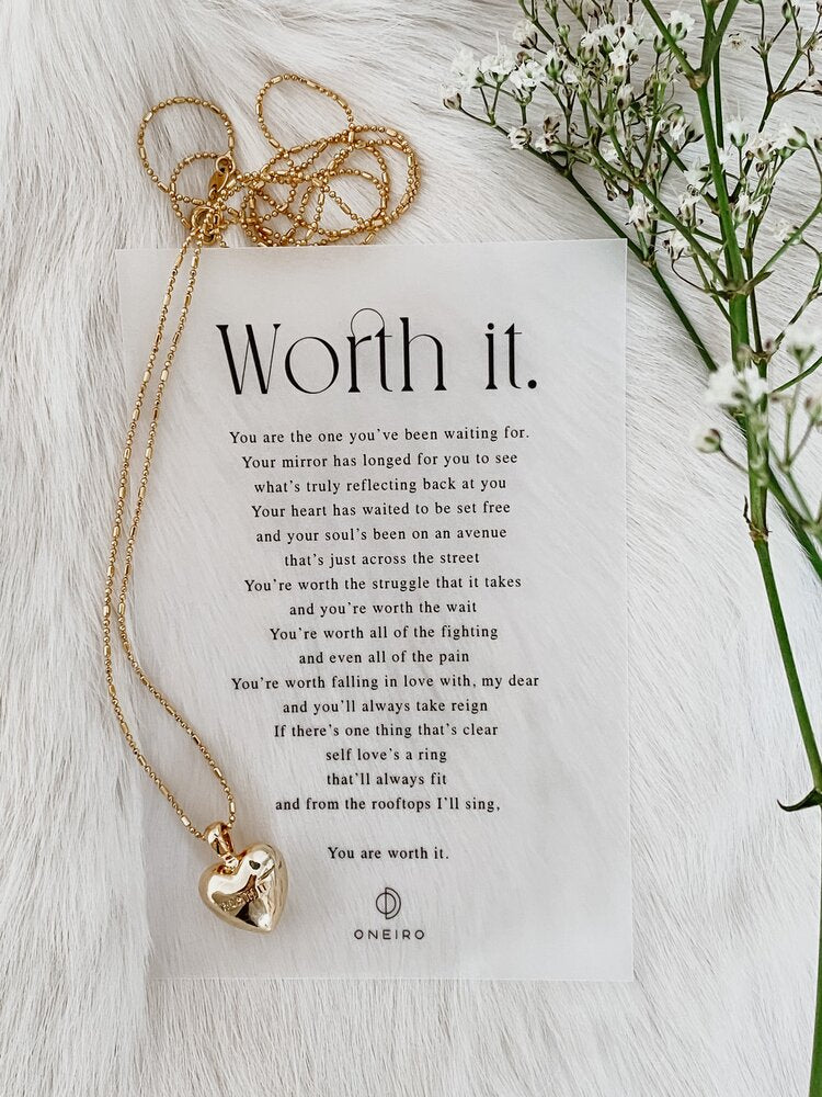 ONEIRO Worth It Necklace