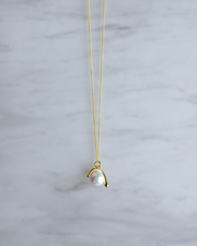 Geo Pearl Drop Necklace