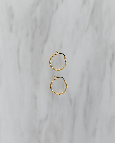 Twisted Gold Hoop