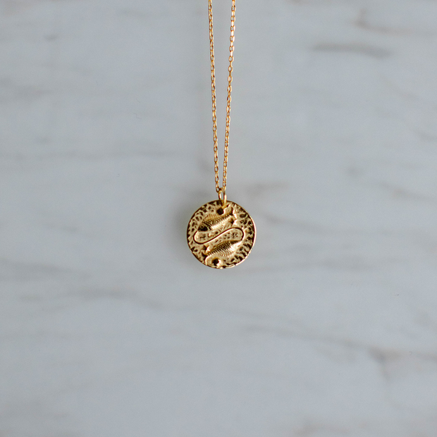 Pisces Zodiac Sign Necklace