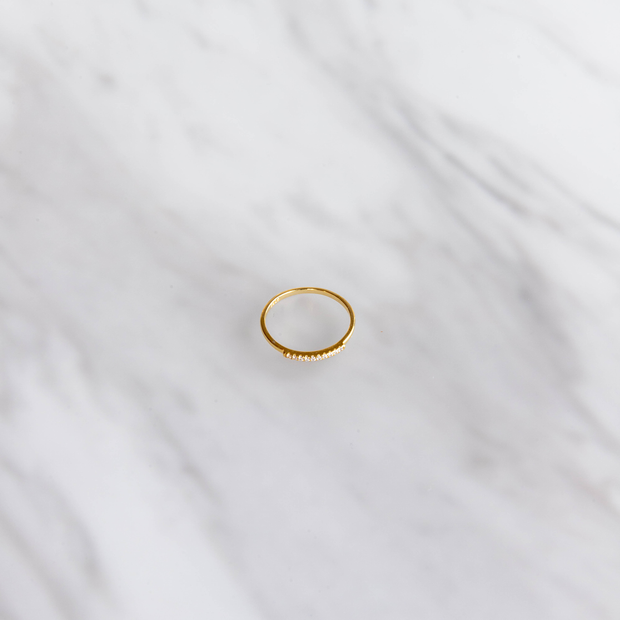 Gold Stone Line Ring