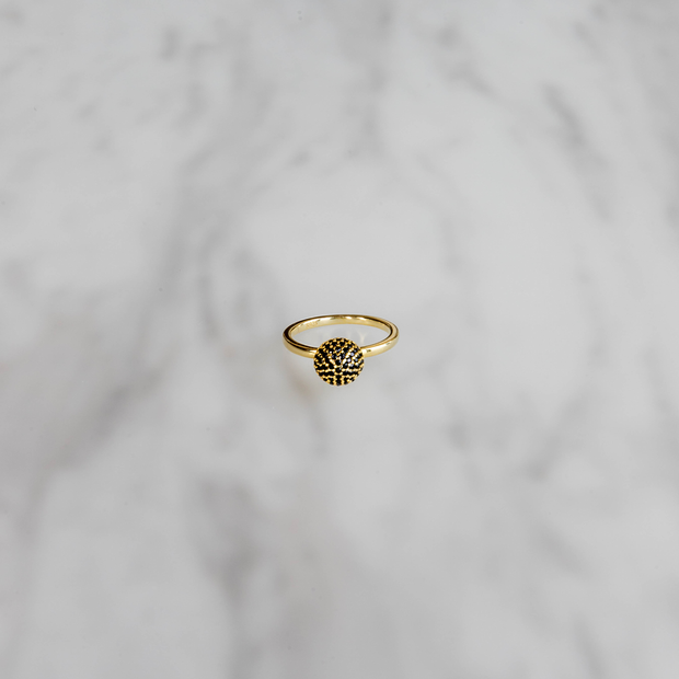 Gold Encrusted Crown Ring