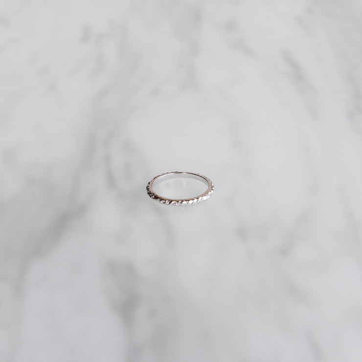 Crushed Silver Ring