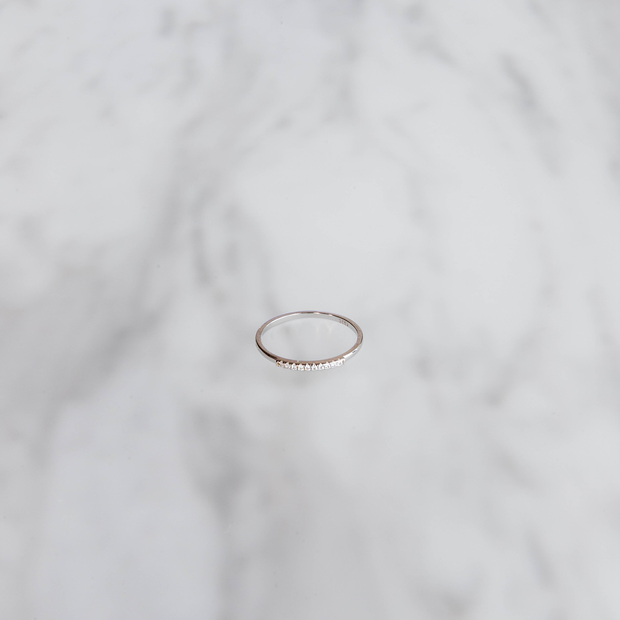Silver Stone Line Ring