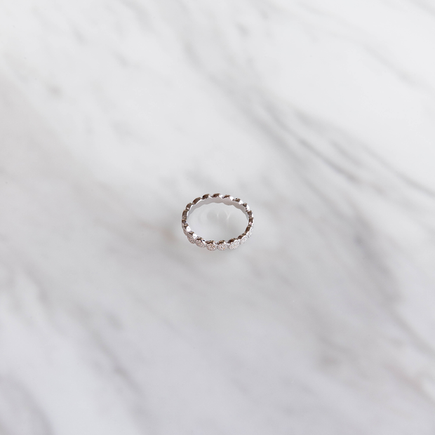 Silver Dotted Ring