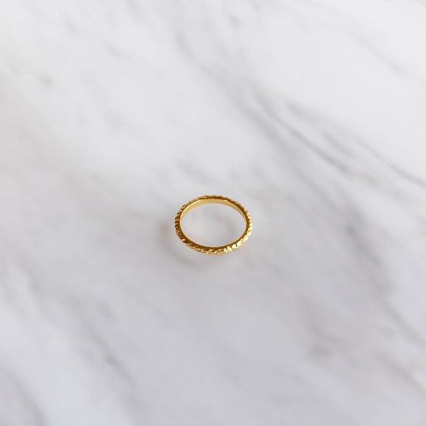 Crushed Gold Ring