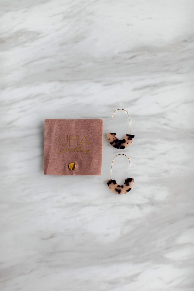 Half Acetate Earrings