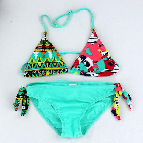 Image of NEW CUTE BEACHWEAR GIRLS TWO PIECES BIKINI SWIMSUIT