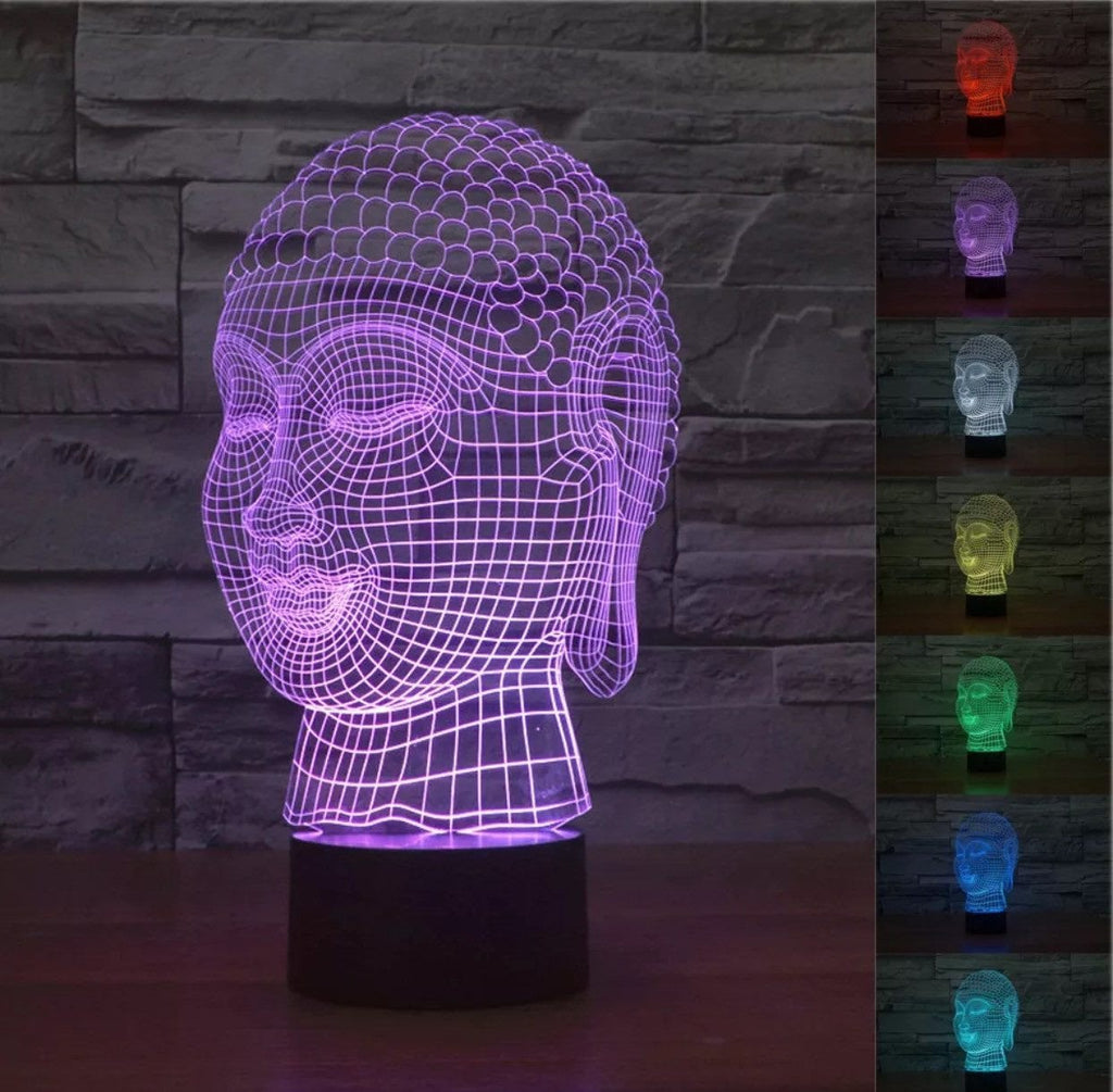 LIMITED EDITION 3D HOLOGRAM BUDDHA LED LAMP
