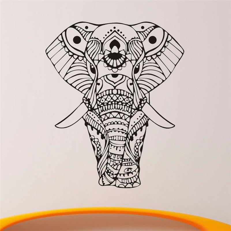 MANDALA INDIAN ELEPHANT WALL STICKERS