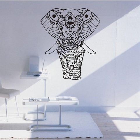 Image of MANDALA INDIAN ELEPHANT WALL STICKERS