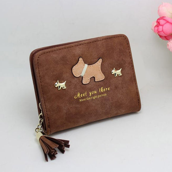 Arenaceous Leather Dog Wallet