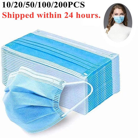 Disposable Masks 200/100 Pcs - Anti-virus -  Anti-Dust