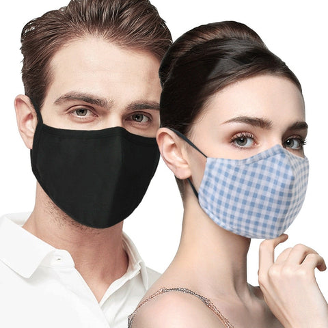 Men Women's windproof thicken 100% cotton mask lady's PM 2.5 filter breathable lattice cotton mouth-muffle Hot