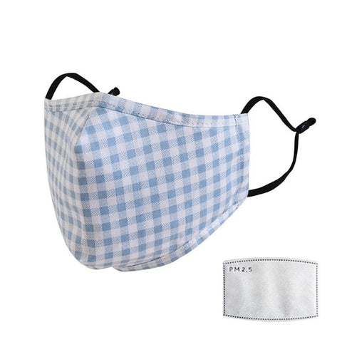 Image of Men Women's windproof thicken 100% cotton mask lady's PM 2.5 filter breathable lattice cotton mouth-muffle Hot