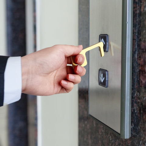 Image of Antimicrobial Brass Door Opener