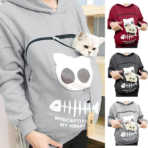 Image of Pet Carrier Pouch Hoodie