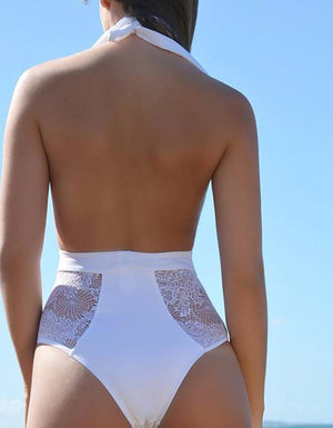 SEXY HIGH CUT TRIKINI LACE CROCHET SWIMSUIT