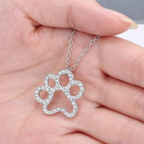 Image of Paw Pendant Necklace