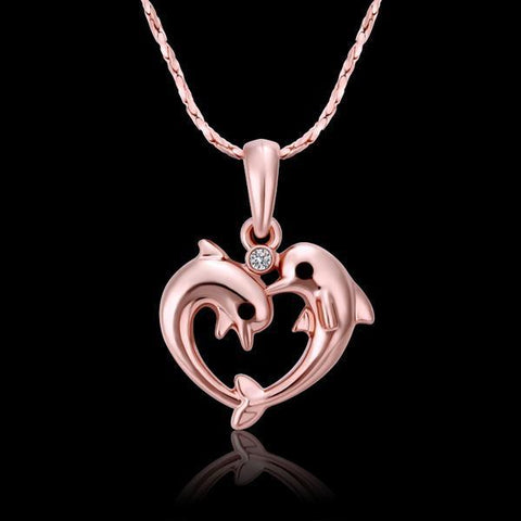 Image of Pink Dolphins Necklace