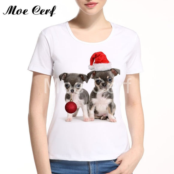 Dog & Cat Christmas T-Shirt