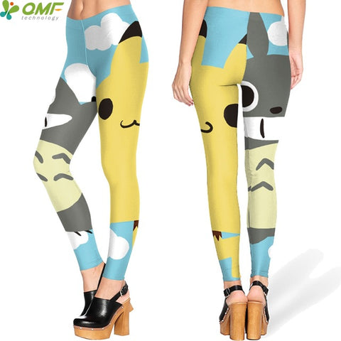 Image of Paw Print Yoga Pants