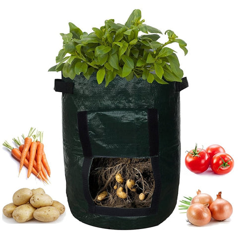 Outdoor Vertical Hanging Planter Bag For Growing Potatoes