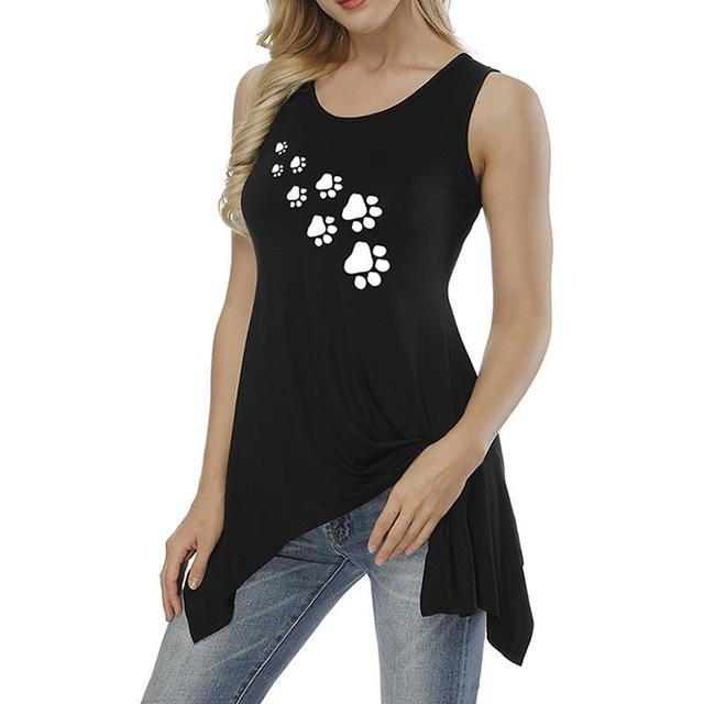 Footprint Tank Top Black