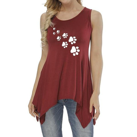 Image of Footprint Tank Top Red