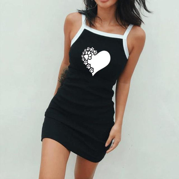 Paw Dress Black
