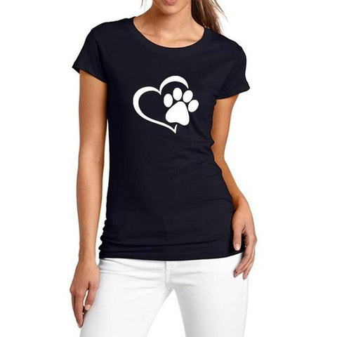 Image of New Heart Paw T-Shirt Black