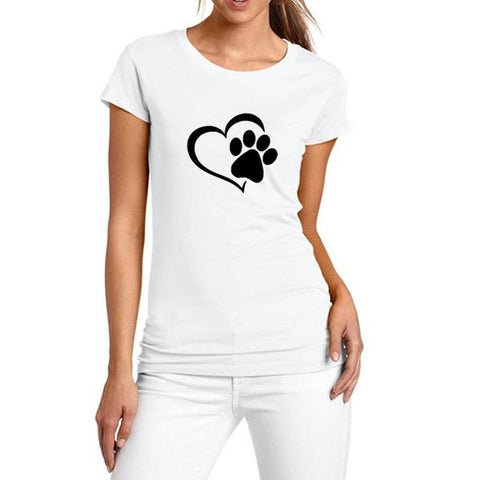 Image of New Heart Paw T-Shirt White