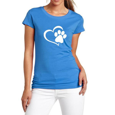 Image of New Heart Paw T-Shirt Blue
