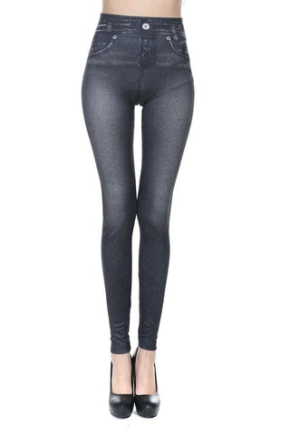 Women's Denim Stretch Pants with Pockets