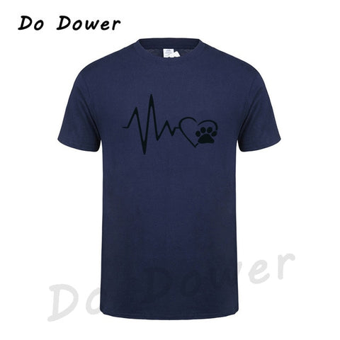 Men's Heart Beat Paw T-Shirt