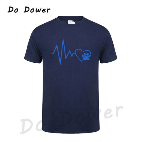 Image of Men's Heart Beat Paw T-Shirt